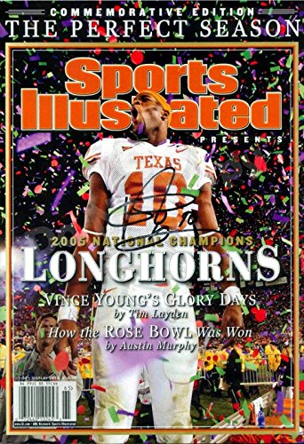Vince Young 2005 National Champions Sports Illustrated Autograph Replica Poster - Texas Longhorns