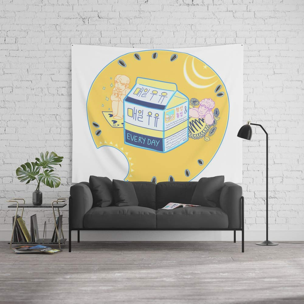 Society6 Wall Tapestry, Size Large: 88'' x 104'', Everyday Milk ?? ?? by cd3media