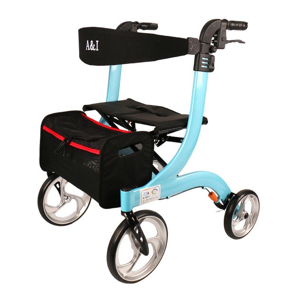 春早割 Peacefre 高齢者、障害者のための折り畳み式シート付き多機能歩行補助具 Peacefre (色 : 青 青) 青 (色 B07MPC6CBV, セタガヤク:17469a28 --- a0267596.xsph.ru