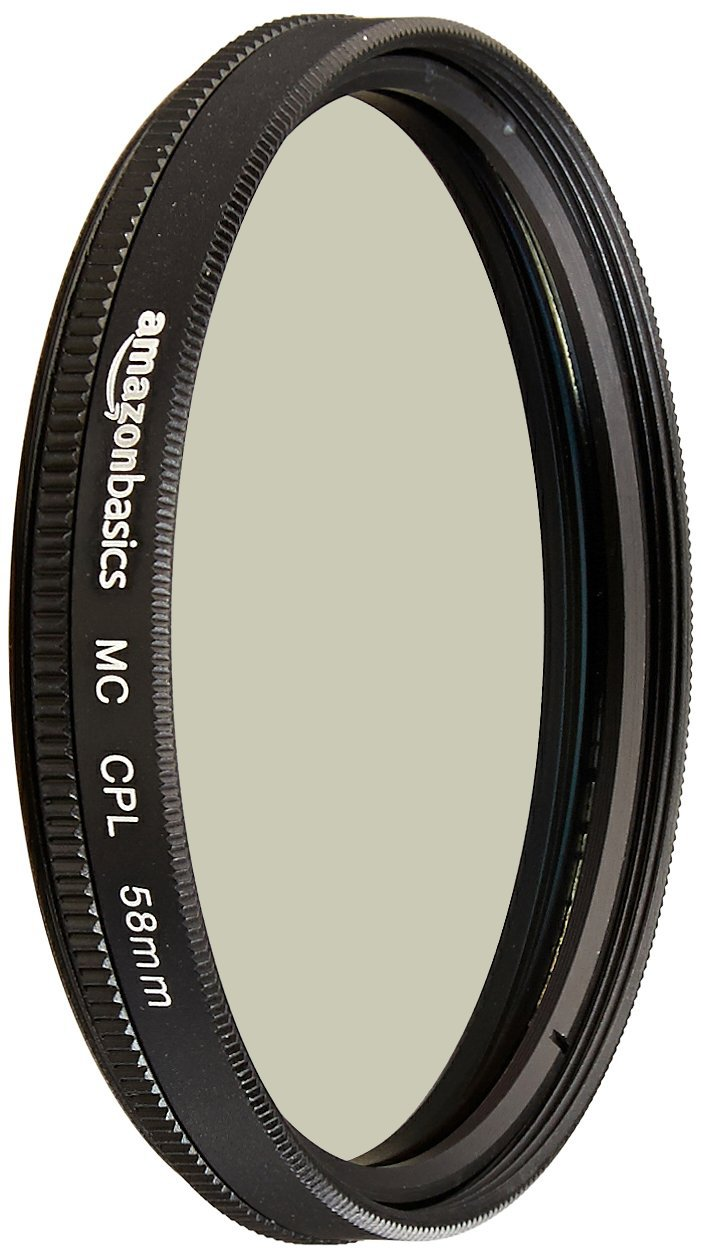 AmazonBasics Circular Polarizer Camera Photography Lens - 58 mm by AmazonBasics