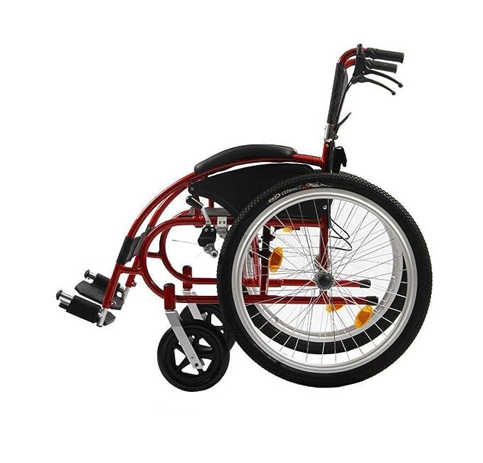 DLC@ED Sillas de ruedas deportivas 13Kg Portátil Plegable ...