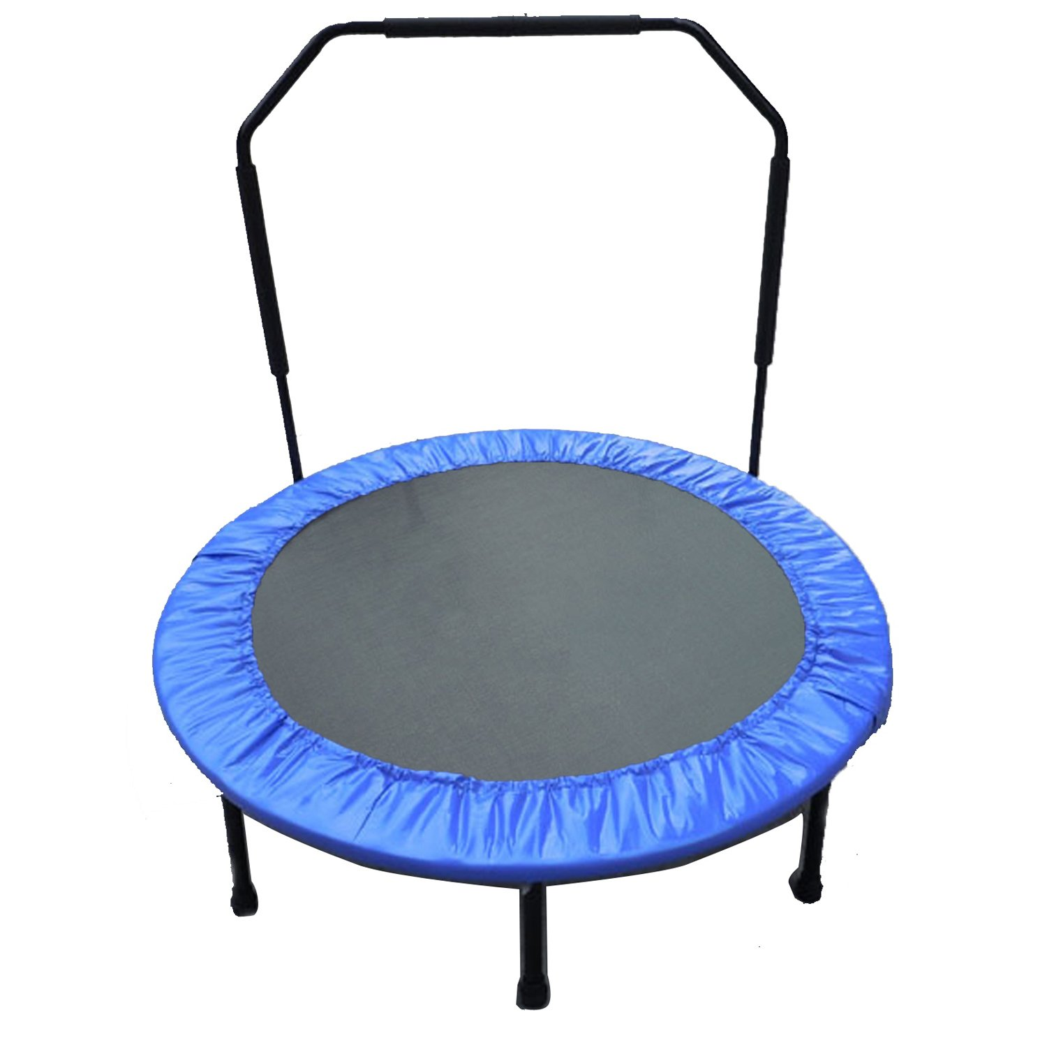 Upper Bounce 48'' Mini Home Indoor / Outdoor Fun, Health And Fitness Foldable Trampoline with handr