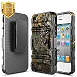 iphone 4 case belt - iPhone 4 Case, iPhone 4S Case With [HD Screen Protector], NageBee [Heavy Duty] Armor Shock Proof Dual Layer [Swivel Belt Clip] Holster with [Kickstand] Combo Rugged Case For Apple iPhone 4/4S - Camo