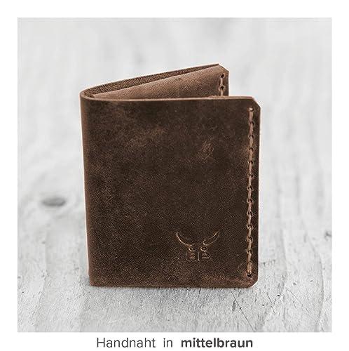 1a59c7f8c9e266 kleine   kompakte dunkel braune mini Männer Geldbörse MONO aus bestem  Leder