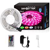 Daybetter Led Strip Lights 16.4ft 5m Flexible Color Changing RGB Led Light Strip 5050 150leds LED Tape Lights Kit with…