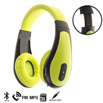 Silica DMT169GREEN - Cascos Bluetooth hasta 30 m con Manos Libres, Color Verde