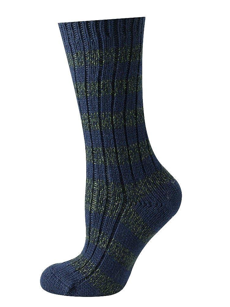Mysocks® de pura lana virgen Calcetines a rayas Armada: Amazon.es: Ropa y accesorios