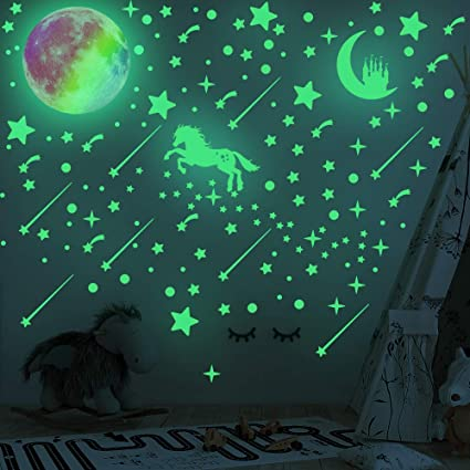 XGao Luminous Wall Stickers 12 Constellation Combination Home Decor Wall Sticker Christmas Decor Wall Hanging Figurines Ornaments Light Gifts Pendant for Baby Kids Children Educational Toys