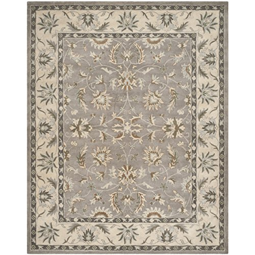 Safavieh Heritage Collection HG863A Handcrafted Traditional Oriental Grey and Beige Wool Area Rug (8' x 10') ()