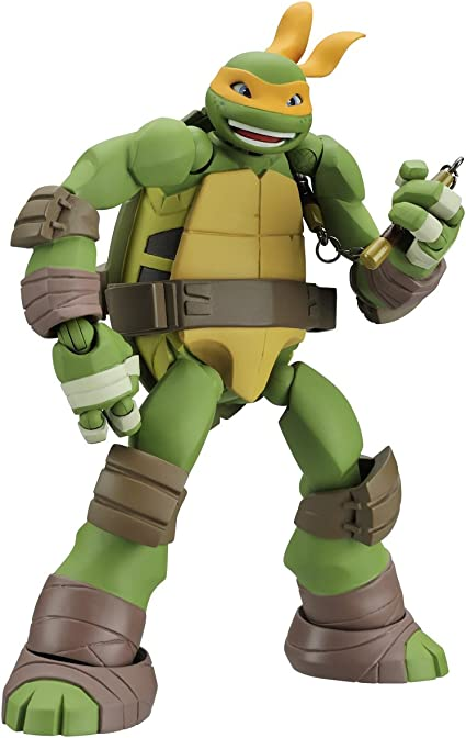 Amazon Com Revoltech Mutant Ninja Turtles Michelangelo 120 Mm Abs