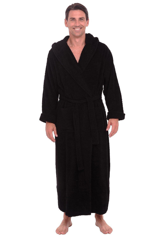 c4ccc8d186 Alexander Del Rossa Mens Turkish Terry Cloth Robe