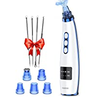 Blackhead Pore Vacuum Cleaner Remover, 2021 Upgraded Facial Pore Cleaner Electric USB Rechargeable Acne Comedone…