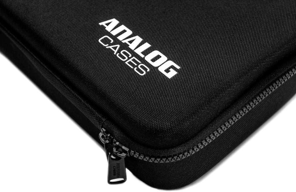 Transporttasche aus langlebigem, geformtem EVA//Nylon, mit robustem Gummitragegriff Schwarz Analog Cases PULSE Case f/ür Korg Monologue oder vergleichbare Synthesizer
