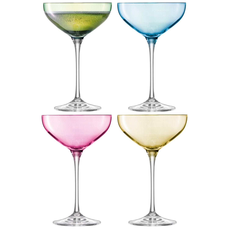 polka LSA Champagne Saucers 13.7oz / 390ml - Set of 4 - Handmade Champagne Glasses in Gift Box G1148-08-294