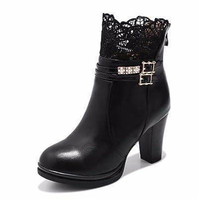 La mujer de tacón alto de encaje zapatos de mujer