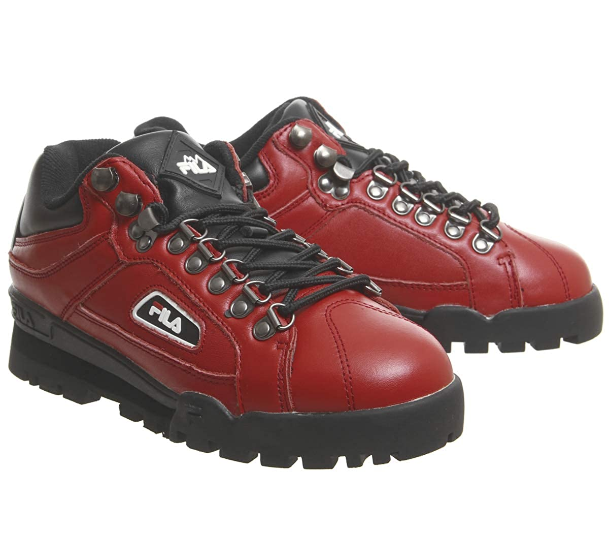 62524e6160449 Amazon.com: Fila Pompein Red Trailblazer Sneakers: Shoes
