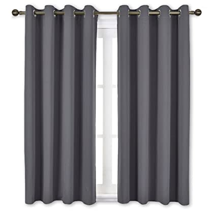 Beau NICETOWN Bedroom Blackout Curtains Panels   Window Treatment Thermal  Insulated Solid Grommet Blackout For Living Room