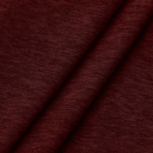 Couleur Sweat Hiver Unie Longues Tops Personnalité Rouge Doux Classique Piebo women Femme T Coton Patchwork Chemises Manches Crewneck Blouse Élastique shirt Solide Blouson Lâche Chaud Automne La Mode Crop BqYw0t