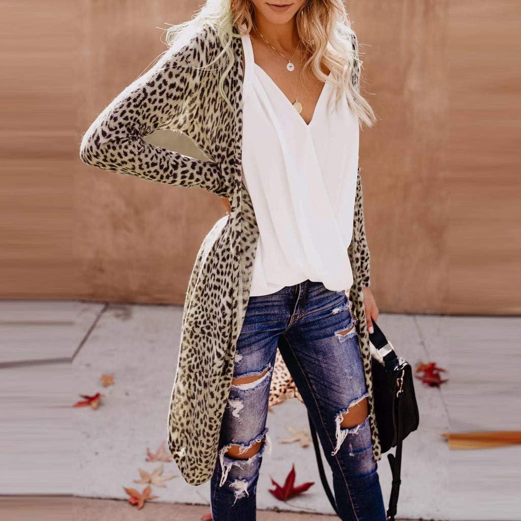 SUDADY Cappotti Giacca Donna Cardigan Felpa Maglione Leopardo Ragazza Camicia Maglietta Donne Blusa Felpe Tumblr Hoodie Ragazze Sweatshirt Kitted Jumper Tuta Vestiti Abbigliamento