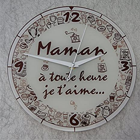 Reloj Con Texto Je T Aime Maman Regalo Para La Fiesta De
