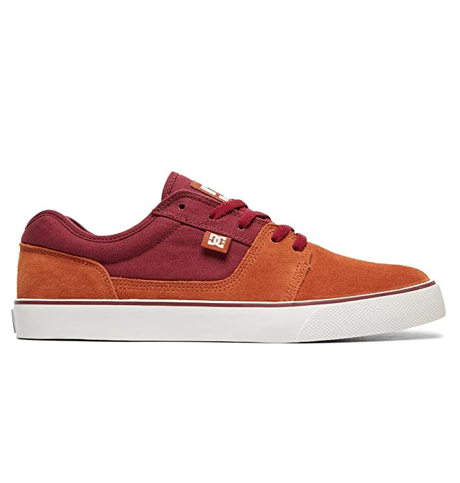 DC Shoes Tonik Sneakers Skateboardschuhe Herren Damen Unisex Erwachsene Weinrot/Orange