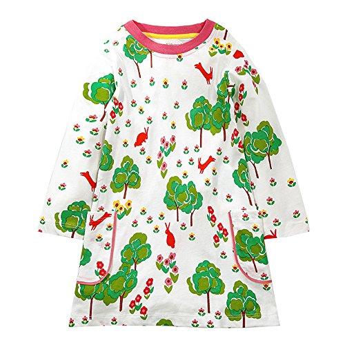 Baby Cotton Floral Cartoon Skirt - 5