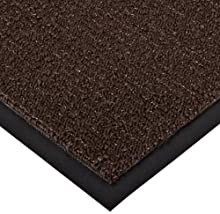 NoTrax 146 Encore Vinyl Backed Entrance Mat, for Home or Office, 3' X 5' Brown