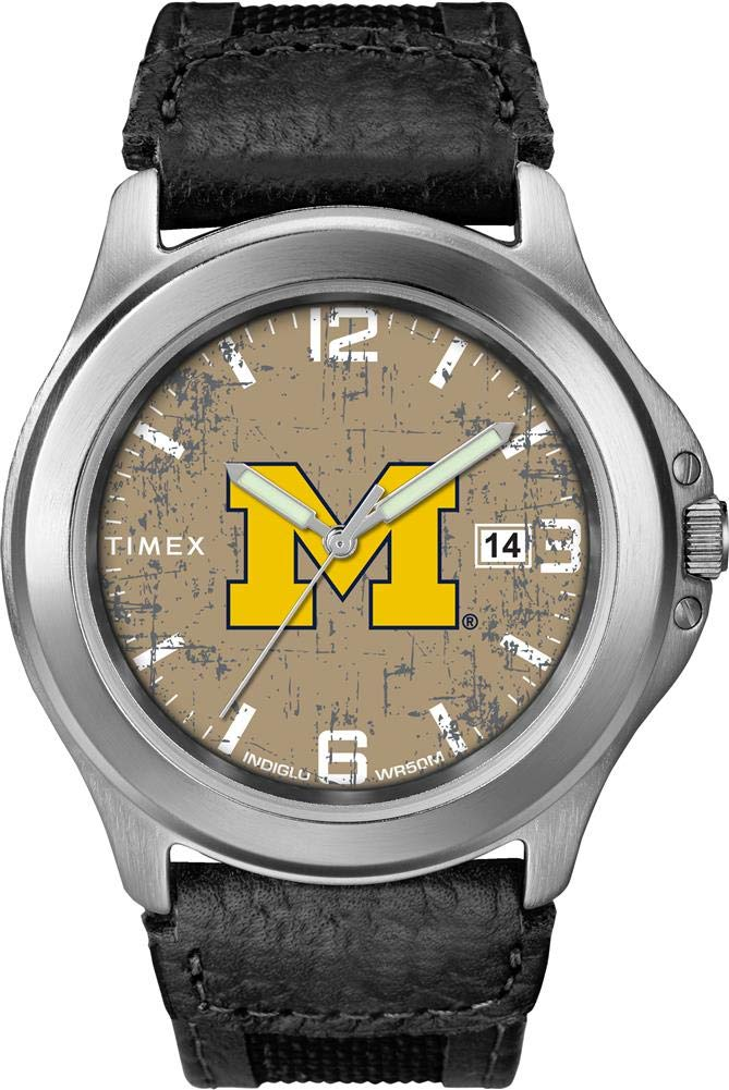 Timex Men's University of Michigan Wolverines Watch Old School Vintage Watch