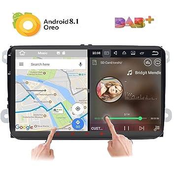 Android 8.0 sytem 9 Pulgadas Radio GPS de Coche Multimedia Navegación WiFi para VW Golf 5
