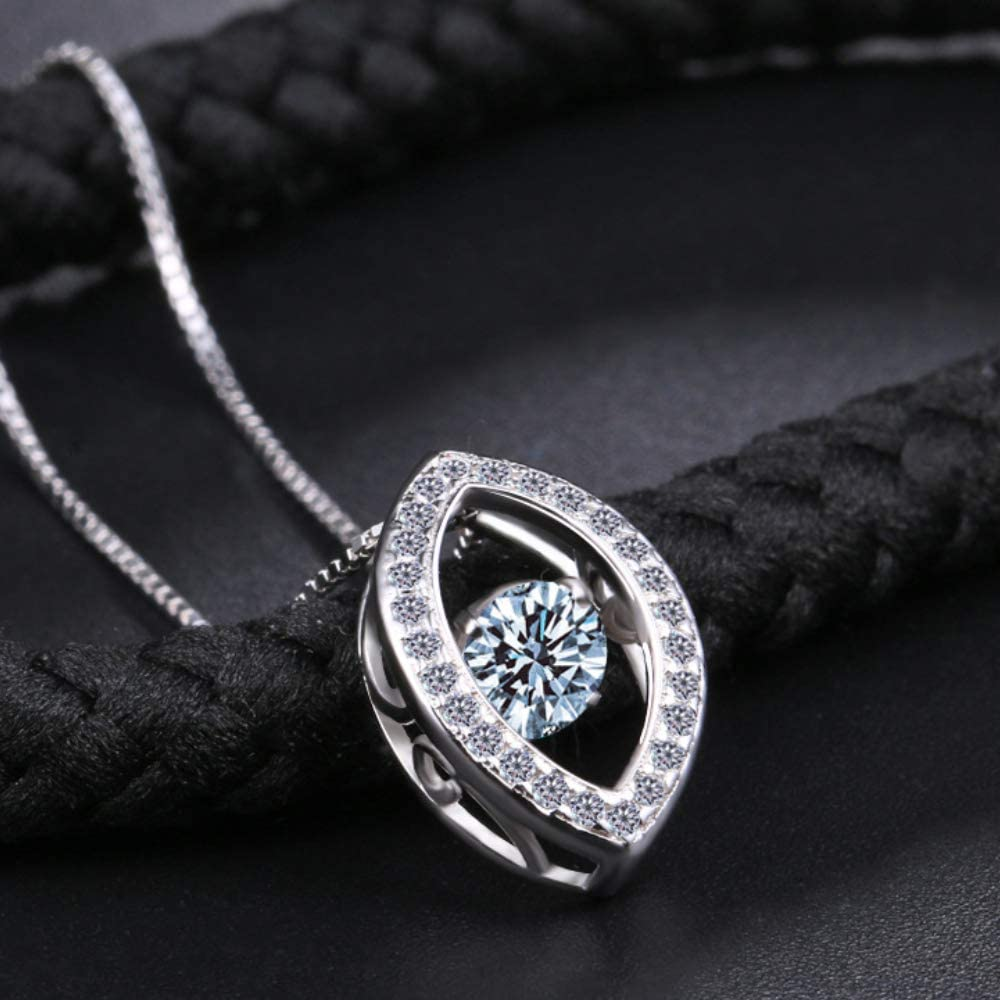 Haiyuan Necklace Necklace Pendant Clavicle Chain Ols925 Sterling Silver Diamond Smart Dancing Water Drop Pendant Clavicle Necklace Female Gift