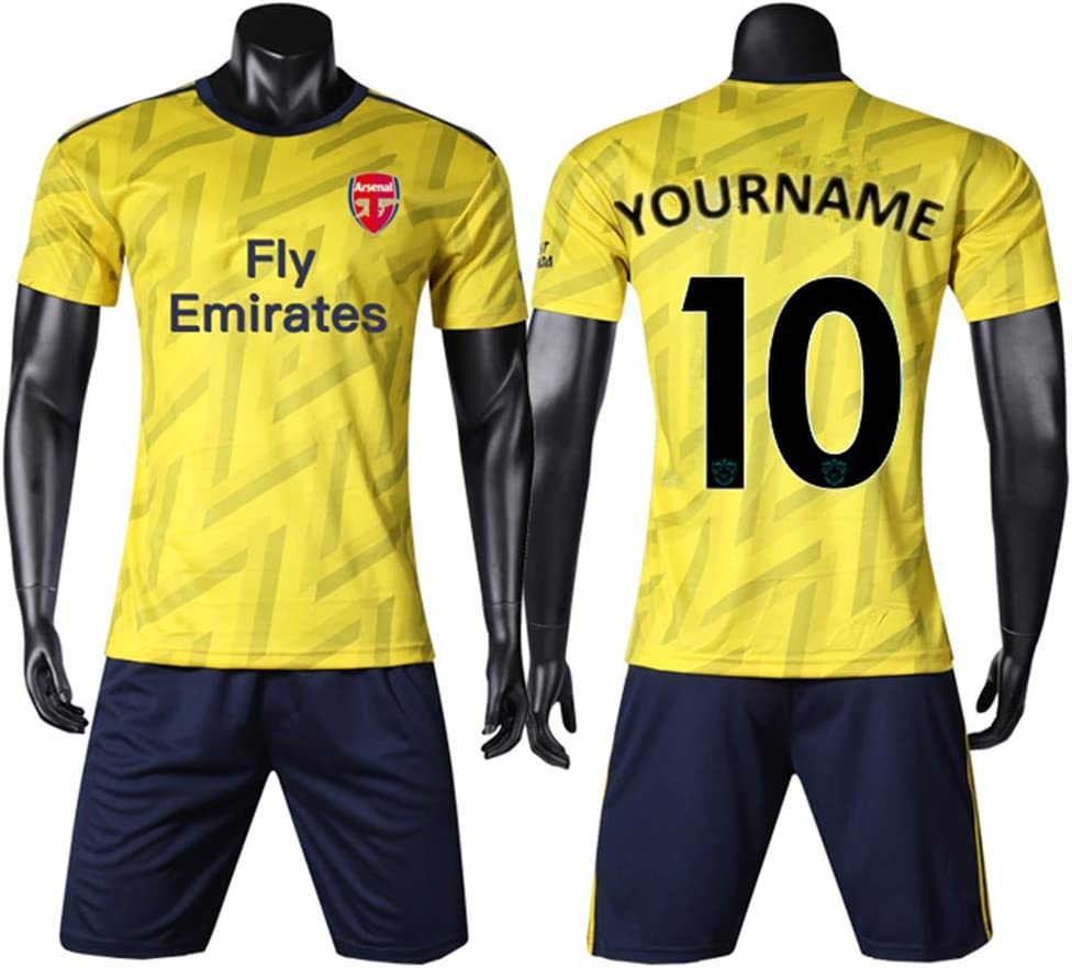 WANG YIBO Camiseta de fútbol Personalizada Camiseta Deportiva de Equipo Traje de fútbol Hombres Nombre y número Personalizado Uniforme de fútbol Infantil: Amazon.es: Deportes y aire libre