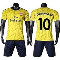 HEFANG - Playera de fútbol para niños, Personalizable, con su Nombre y número, para Practicar fútbol, para Hombre o Hombre