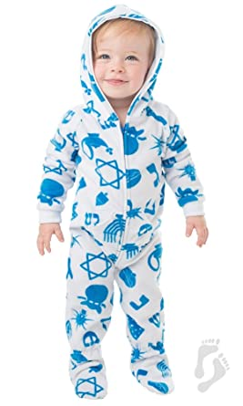 8c7cc480d Amazon.com: Footed Pajamas - Hanukkah Fun Infant Hoodie Onesie ...