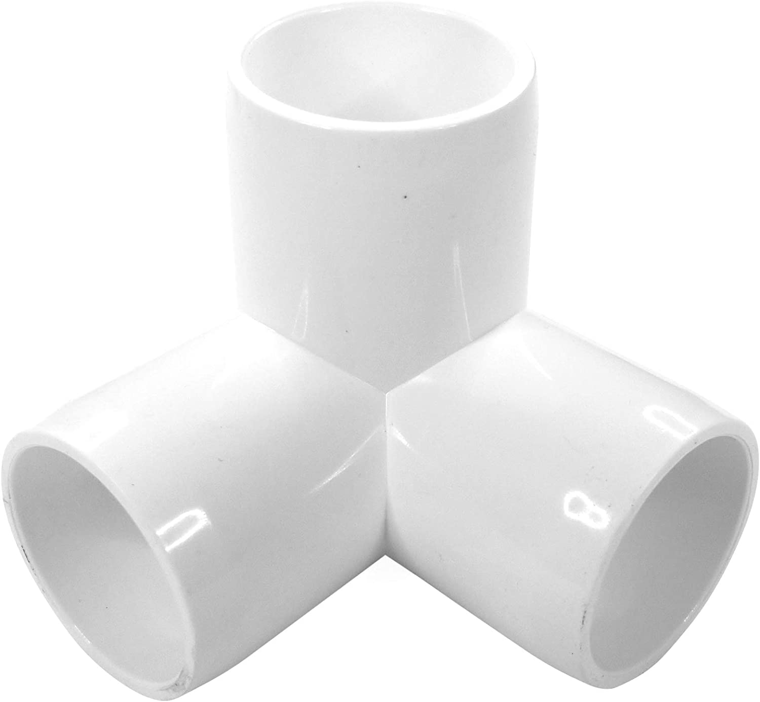 (10-PACK) 3Way 1 inch SCH40 PVC Fitting Elbow - Build Heavy Duty PVC Furniture - PVC Elbow Fittings (1 Inch)