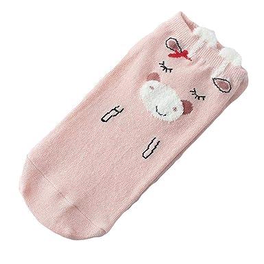 Foruu - Calcetines para mujer, estilo casual, algodón, diseño de gato