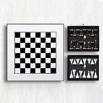 Wujps International Schach Holz Metall Quadrat Schachbrett Schublade Lagerung Fine Pieces Home Zubehr Wohnzimmer Einrichtung