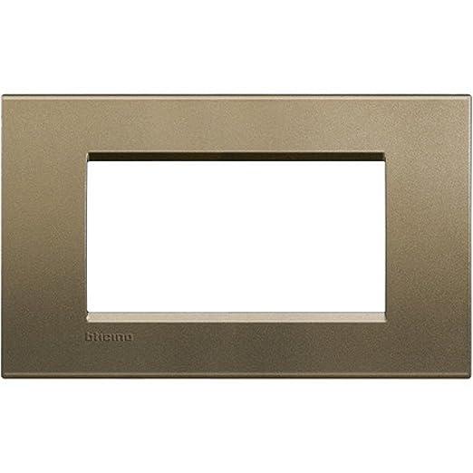 14 opinioni per BTicino LNA4804SQ Livinglight Placca 4 Moduli, Quadra, Bronzo
