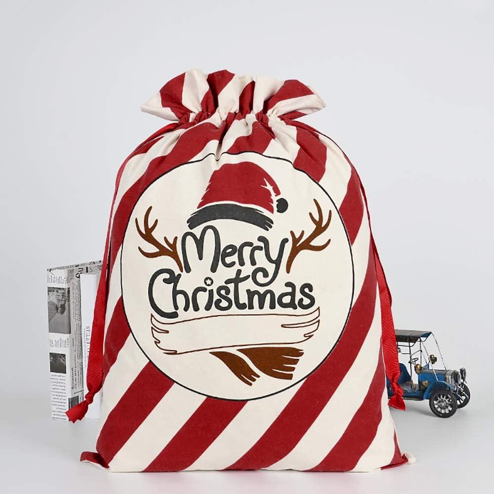 3 pcs No/ël Sac de toile de sac de P/ère No/ël pour les cadeaux Santa sac avec cordon Grande taille 70 x 50 cm motif 1 Mod/èle 4