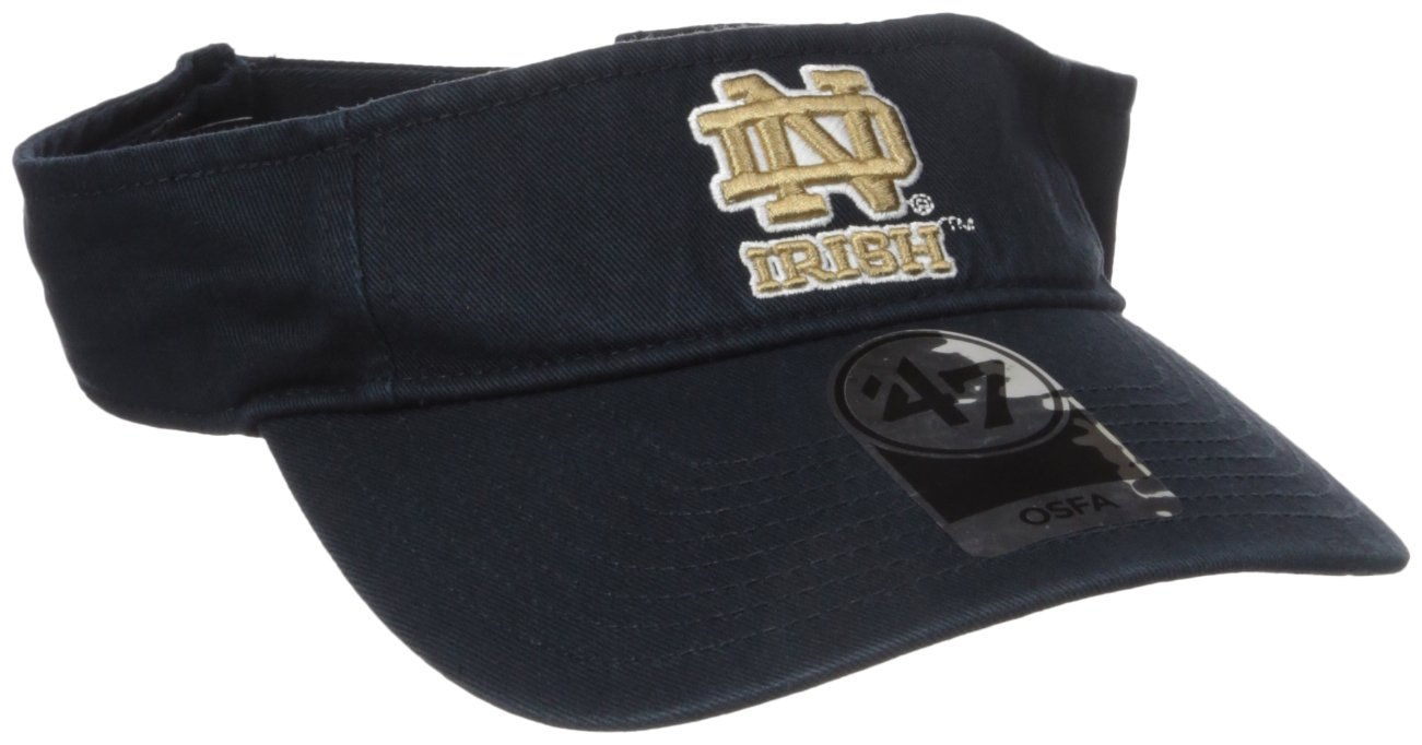 '47 NCAA Clean Up Adjustable Visor Royal One Size Twins Enterprise/47 Brand