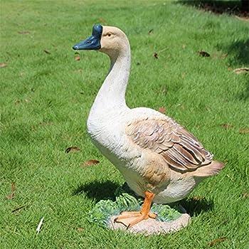 Danmu 1pc Of Polyresin Goose Statue Home Garden Decor