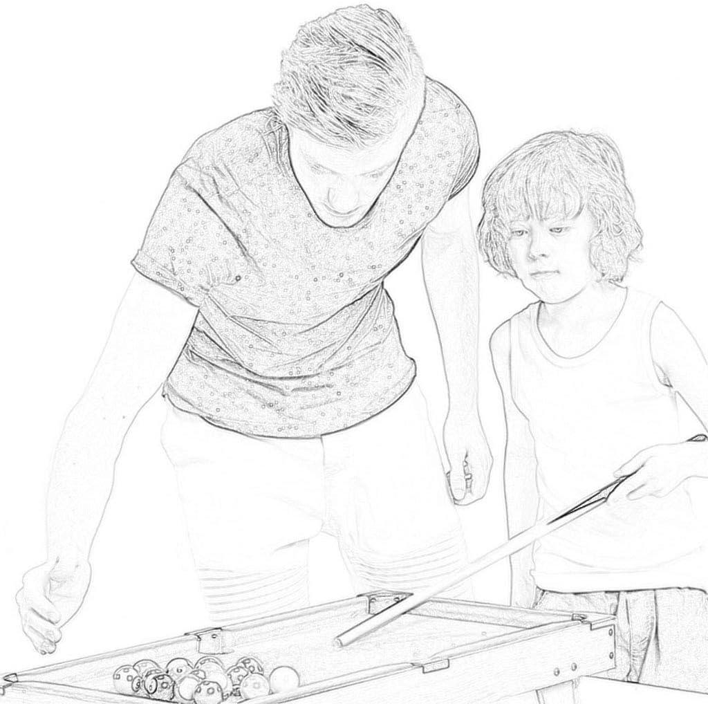 Hh001 Juguetes de Billar para niños Juguetes de Billar domésticos ...