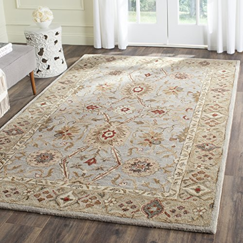 Safavieh Antiquities Collection AT816B Handmade Traditional Oriental Grey Beige and Sage Wool Area Rug (2' x 3')