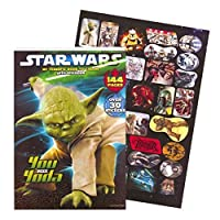 Clásico libro de colorear gigante de Star Wars con pegatinas (144 páginas)