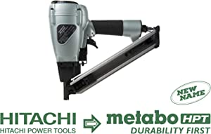"Metabo HPT NR38AK Positive Placement Metal Connector Pneumatic Nailer, Strap-Tite Fastening System, Accepts 1-1/2"" Nails, For Fastening Various types of Pre-Punched Hole Metal Connectors to Wood"