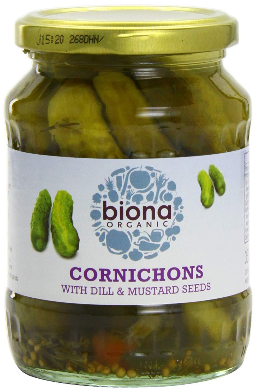Biona Organic - Jarred Pickles - Cornichons - 330g