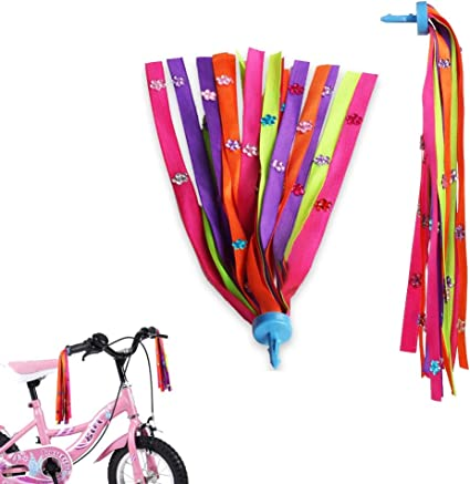 1 Pair Children Bike Streamers Bicycle Handlebar Ribbon Kids Scooter TasselN EW