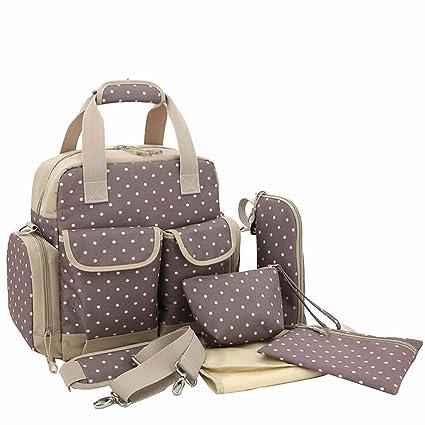 De bebé Paonies mochila para pañales de bolsa de polipiel cambiadora de bolsa de pañales bolso