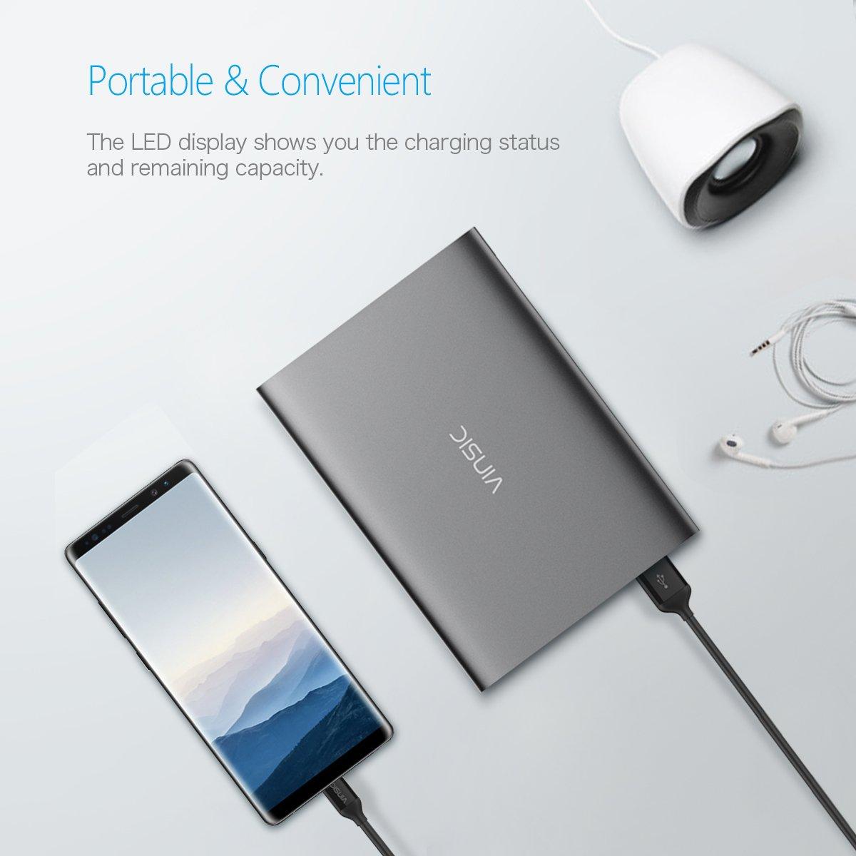 Power Bank Type-C , Vinsic® Batería 20000 mAh QC 3.0 de carga ...