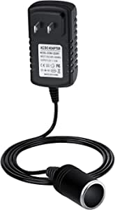AC to DC Converter 24W 2A Car Cigarette Lighter Socket 110-240V to 12V AC/DC Power Adapter