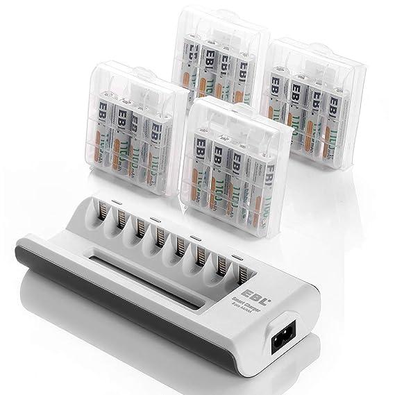 Amazon.com: Cargador de baterías AAA y AA y de ...